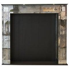 Mirrored Glass Fireplace by Kiko Lopez