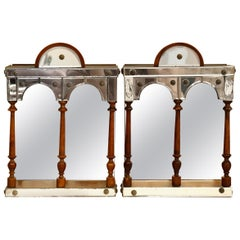 Mirrored Hanging Curio Cabinets