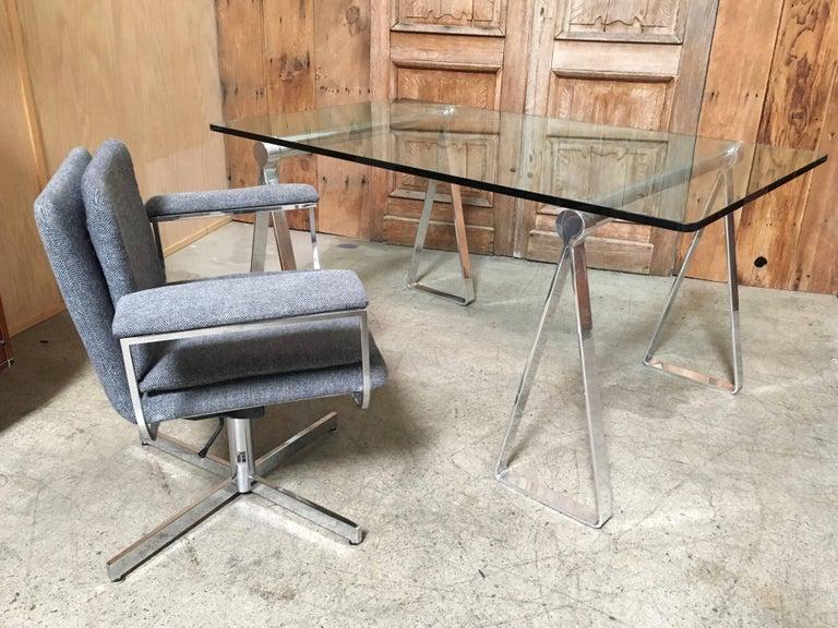 Mirrored Polished Aluminum Sawhorses For Sale 5