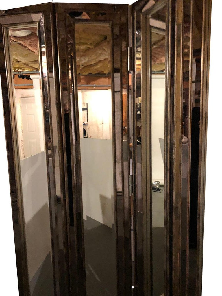 Art Deco Mirrored Screen or Room Divider For Sale