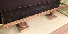 Mirrored Top Carved and Painted 18th Century Italian Gilt Dining / Console Table