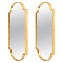 Mirrors, Pair of Gold Leaf Mirrors, Antique Shape