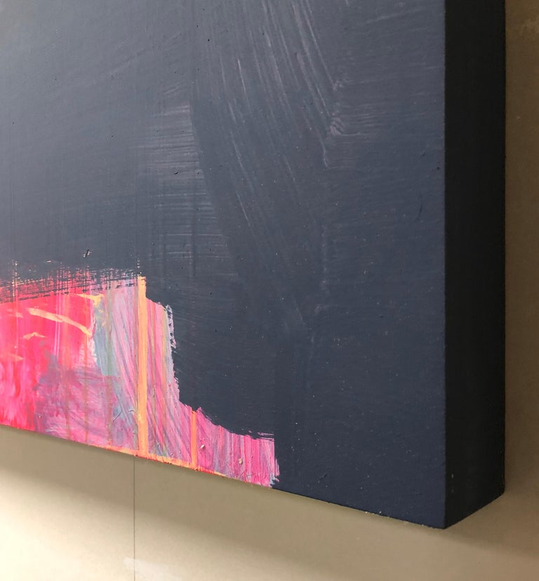 Abstract Acrylic Painting on Panel For Sale 4