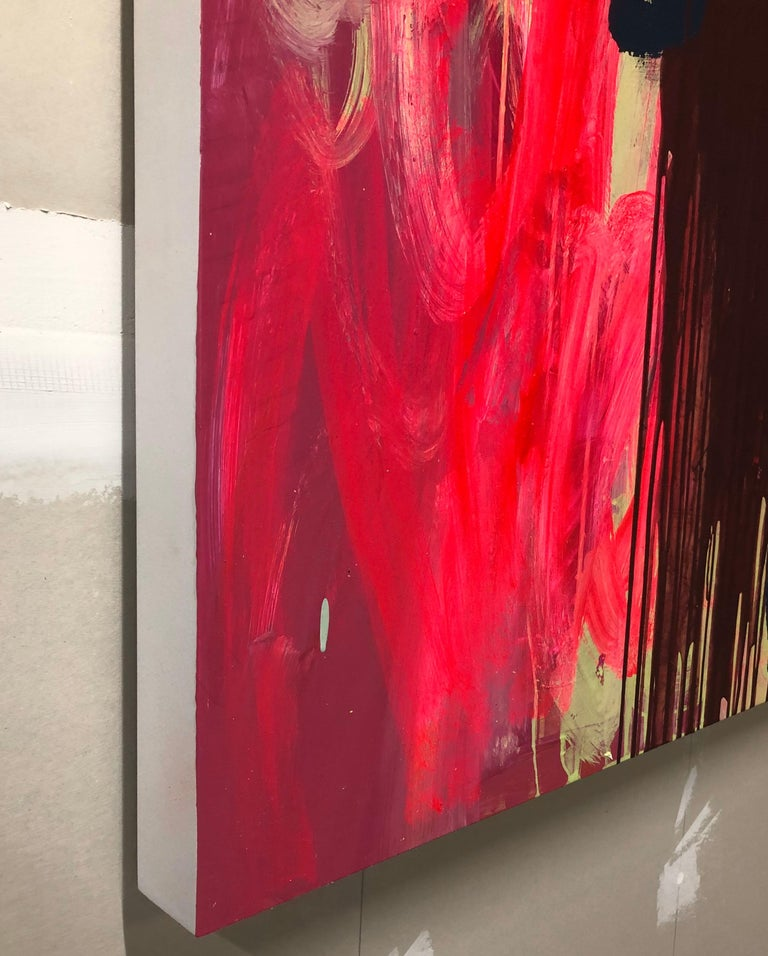 Abstract Acrylic Painting on Panel For Sale 6