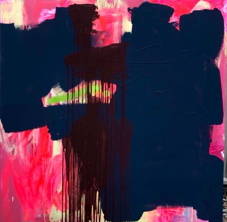Mirtha Moreno Abstract Painting - Abstract Acrylic Painting on Panel