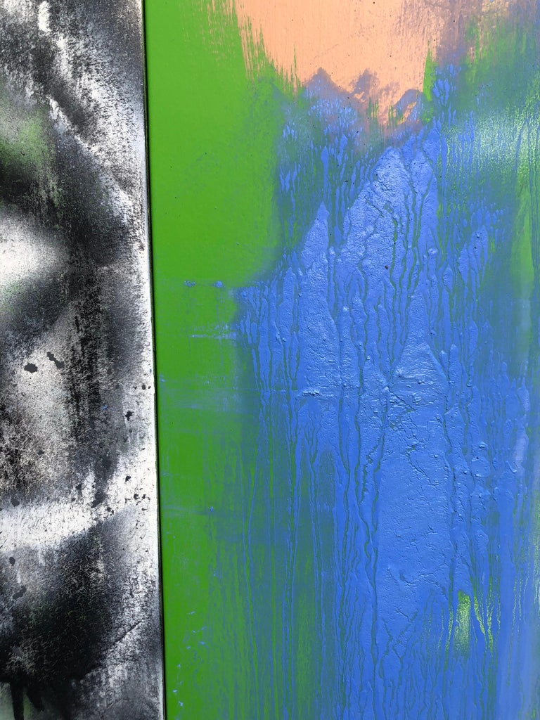 Abstract Expressionist Painting on Panel Titled