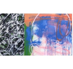 """Abstract Expressionist Painting on Panel Titled """"Crossroads"""""""