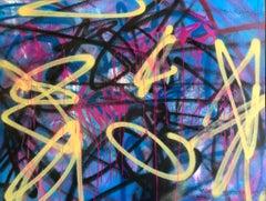 Abstract Street Art Painting on Panel