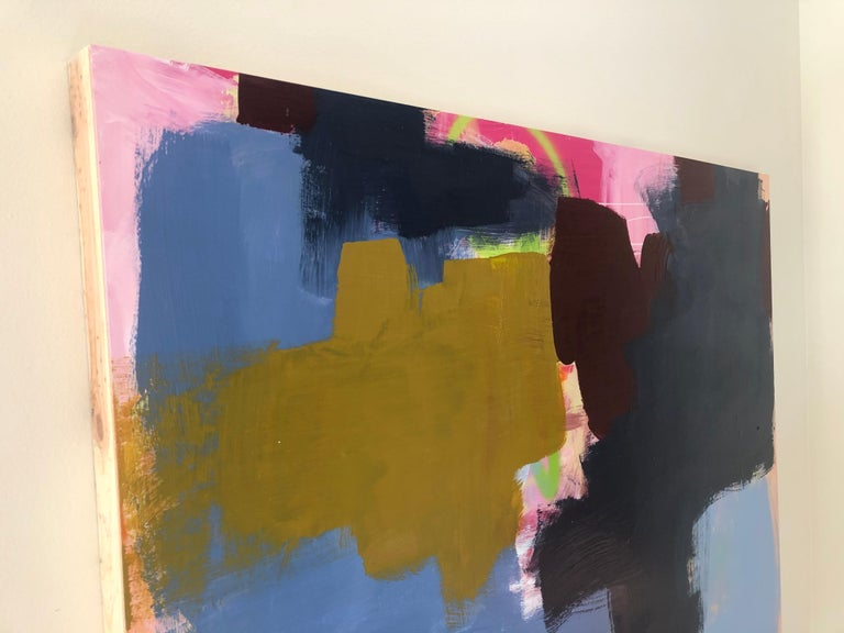 Large Abstract Acrylic on Panel Painting  For Sale 7