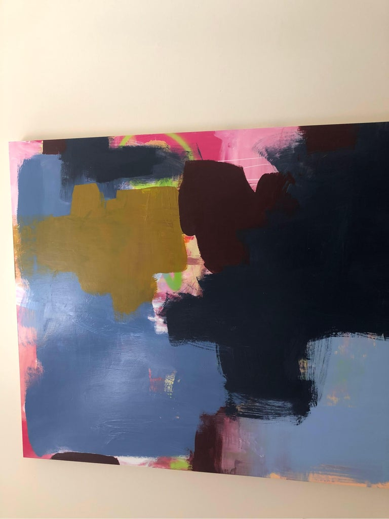 Large Abstract Acrylic on Panel Painting  For Sale 8