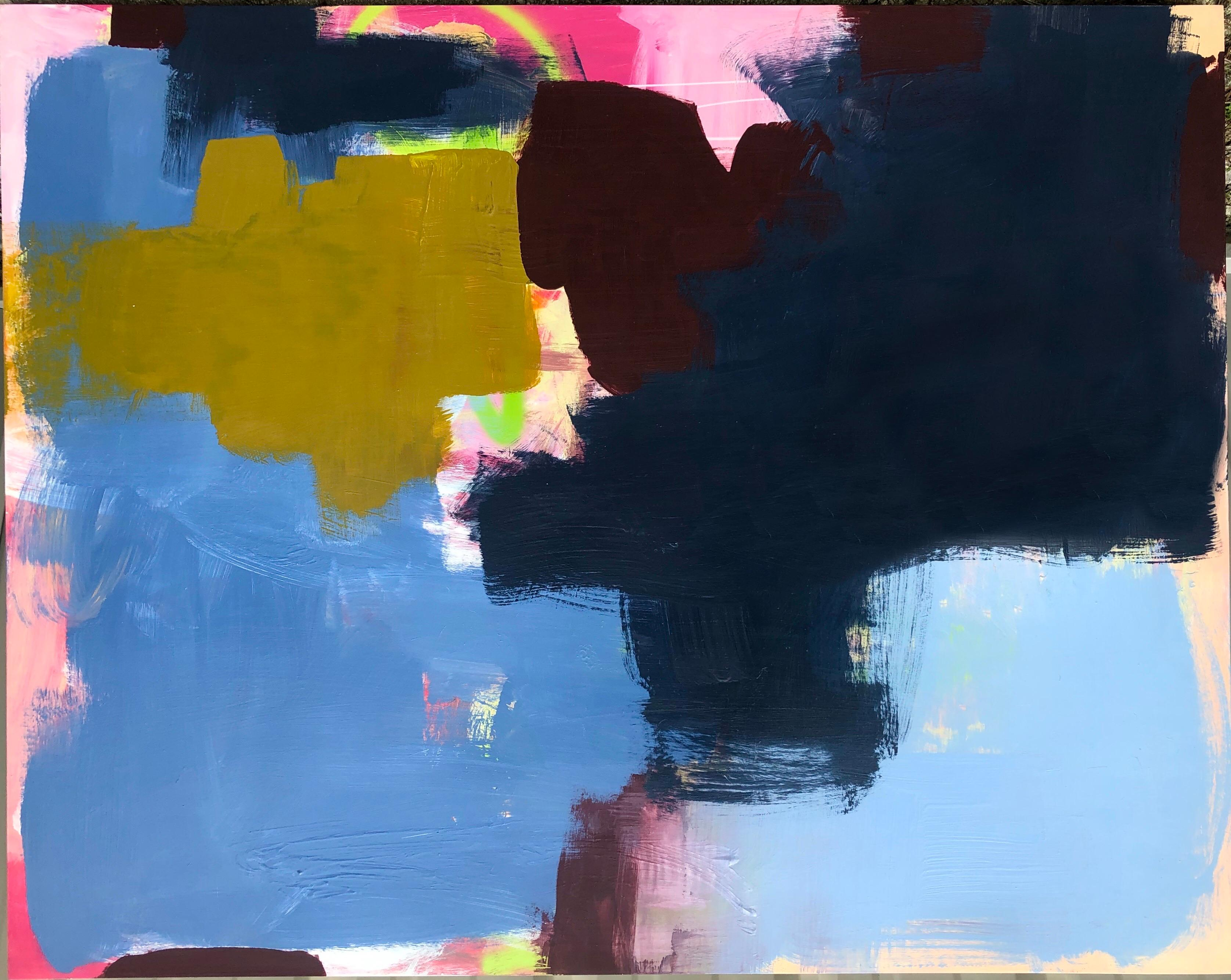 Large Abstract Acrylic on Panel Painting