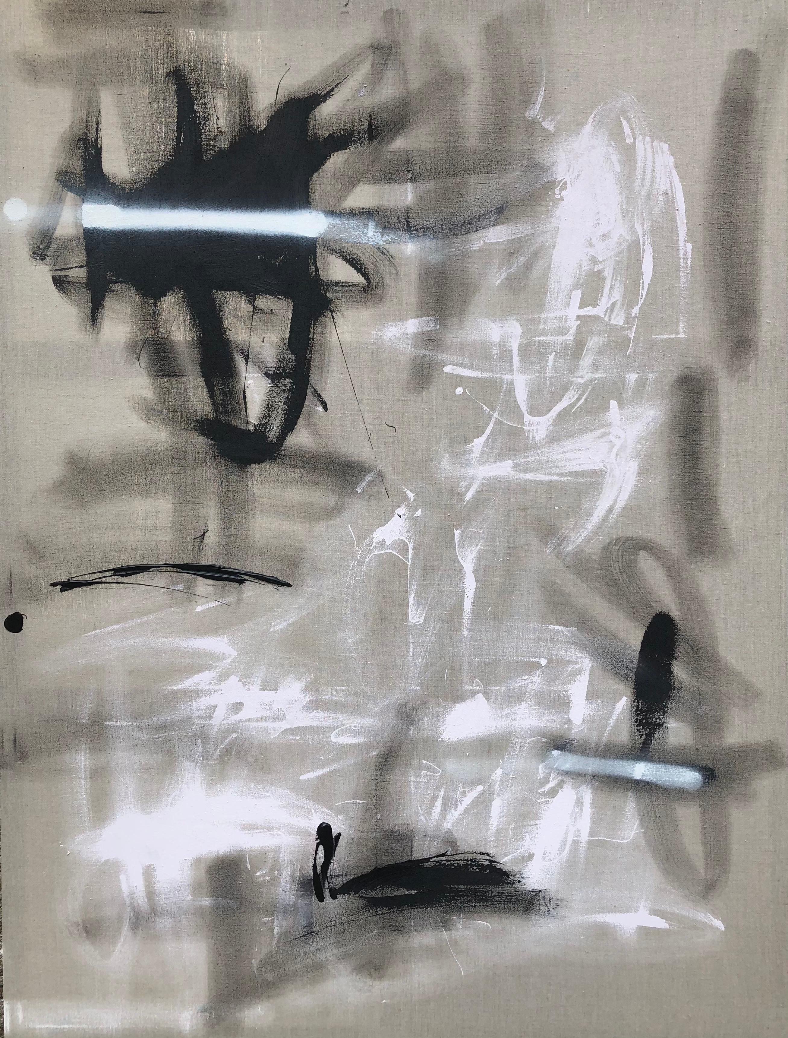 Original Painting on Linen Titled: Salt & Pepper II