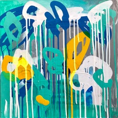 """Pigmented Ink on Panel Painting Titled: """"Here & Now"""""""