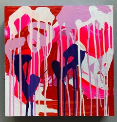 """Pigmented Ink on Panel Painting Titled: """"Now & Then"""""""