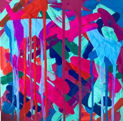 """Pigmented Ink on Panel Painting Titled: """"Summer 1982"""""""