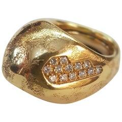 Misani 18 Karat Yellow Gold Diamond Ring