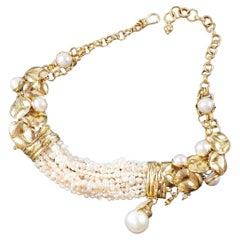 Misani Milano Australian Pearl, Diamonds and 18k Gold Choker Necklace