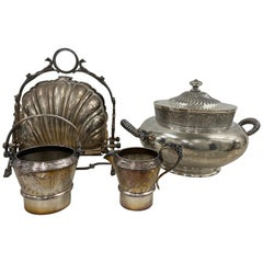 Misc Collection of Various Silverplate Tableware, 19th to 20th C