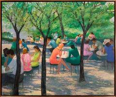 Untitled Landscape Original Impressionist Oil Painting by Mischa Kallis