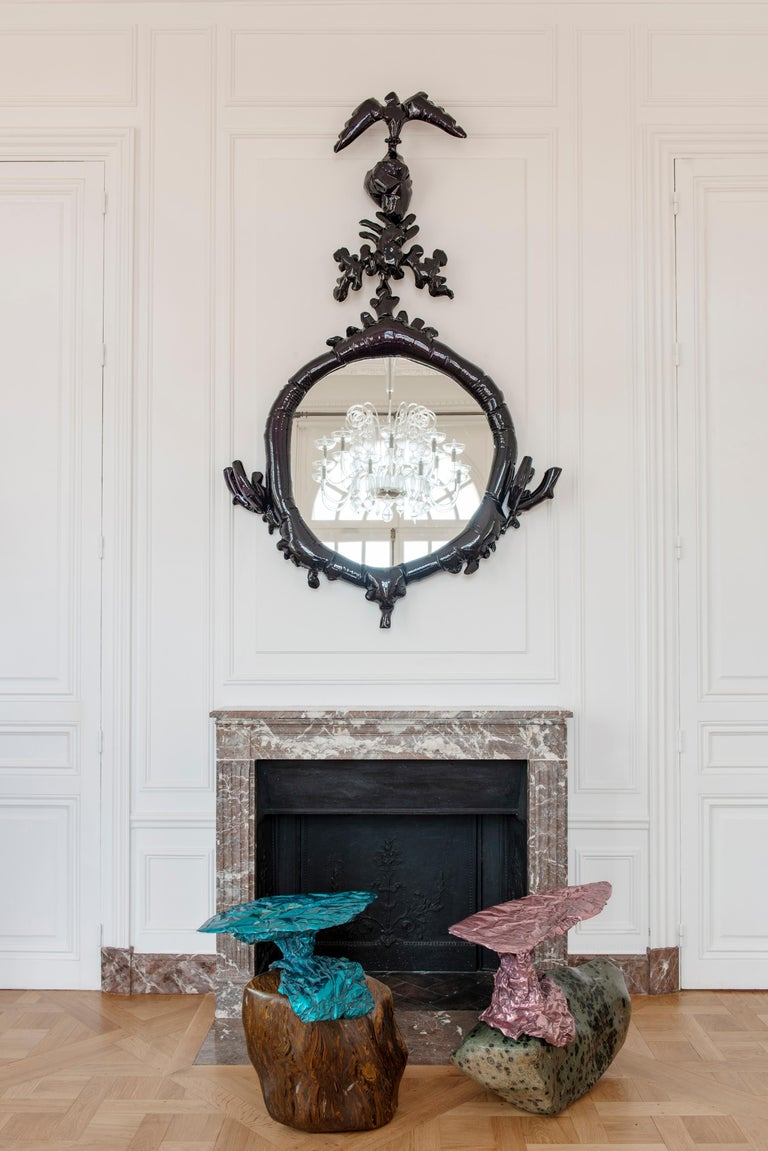 American Misha Kahn, Dark Purple Mirror, Aluminium, 2017 For Sale