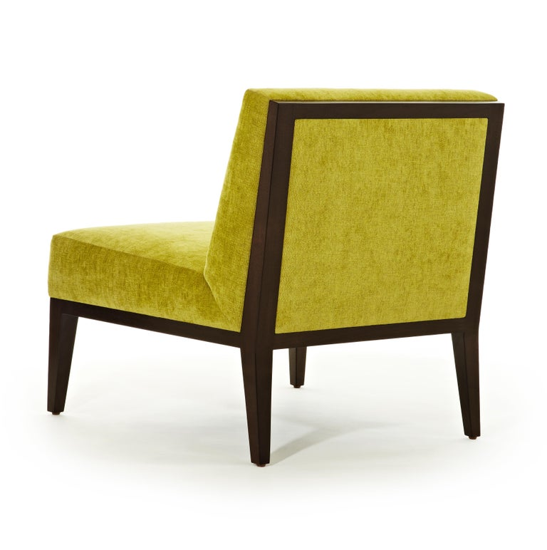 American Misha Wood Frame Chair Customizable Woods Oak, Maple Walnut sleeper chair yellow For Sale