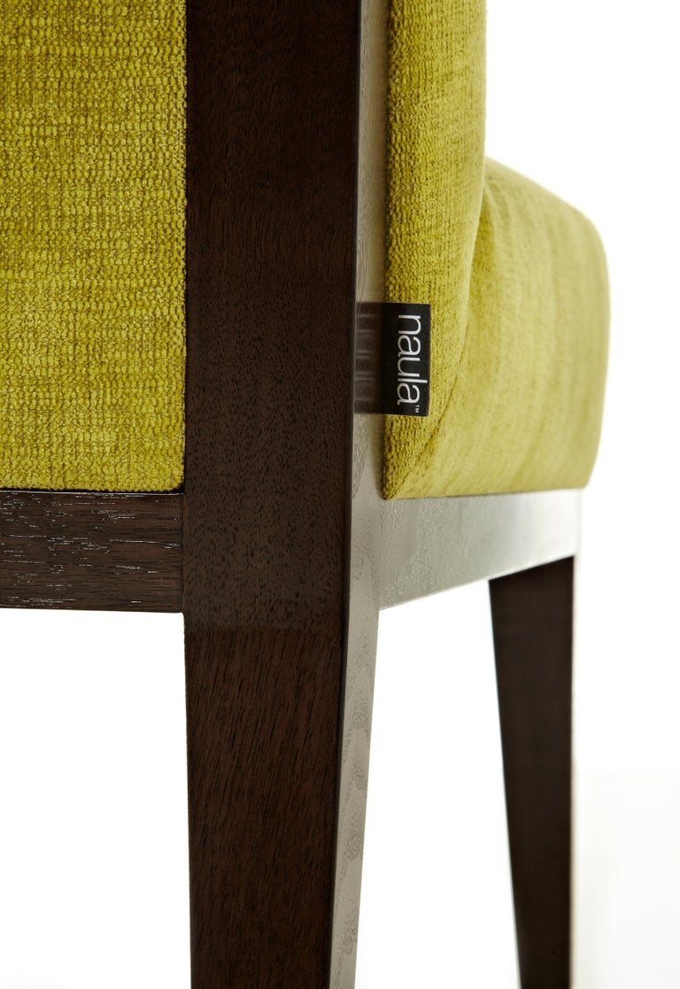 Contemporary Misha Wood Frame Chair Customizable Woods Oak, Maple Walnut sleeper chair yellow For Sale