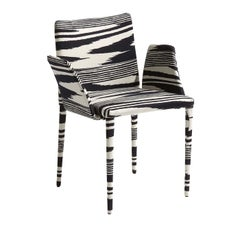 Miss Black and White Chair with Armrests by MissoniHome