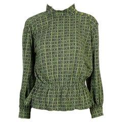 Miss Dior Vintage Green Logo Blouse