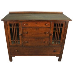 Mission Arts Crafts Eichen Sideboard, Circa 1910