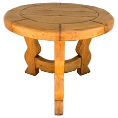 Mission Style Round Table by Ellis Woods Signed and Dated