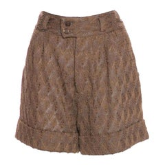 Missoni 3D Crochet Knit Shorts Bermudas Hot Pants