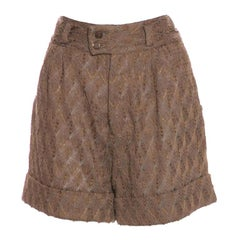 Missoni 3D Crochet Knit Shorts Pants
