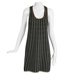 Missoni Black and Cream Check Racer Back Knit Dress