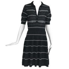 Missoni Black and White Fit and Flare Polo Dress