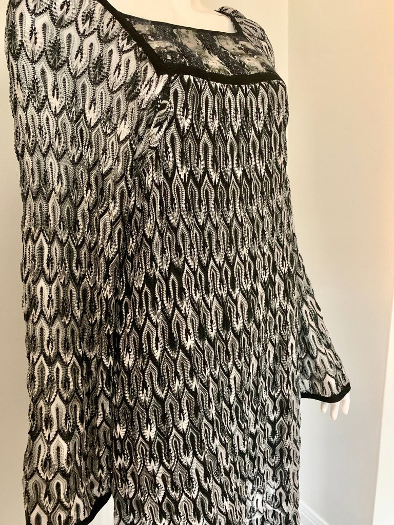 Missoni Black and White Long Sleeve Swing Dress 1