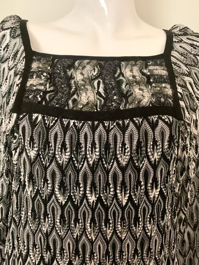 Missoni Black and White Long Sleeve Swing Dress 2