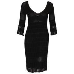 Missoni Black Knit Dress with 3/4 Sleeve