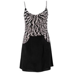 Missoni Black & White Knit Mini Dress SIZE IT 40