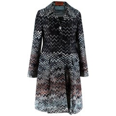 Missoni Black Zig Zag Knit Jacket - Size US 4