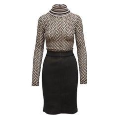 Missoni Brown and Black Knit Dress