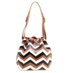 Missoni Brown/Multicolor Printed Bucket Bag