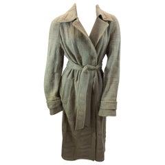 Missoni Camel Knit Wool Coat