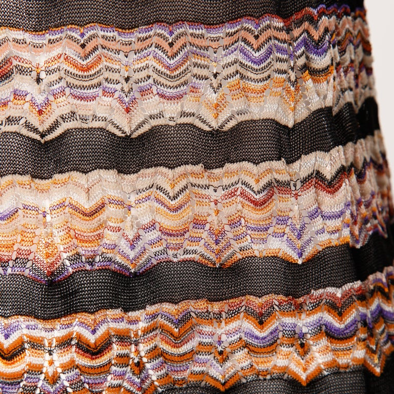 Missoni Chevron Zig Zag Knit Dress with Cut Out Back For Sale 1