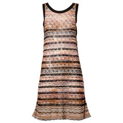 Missoni Chevron Zig Zag Knit Dress with Cut Out Back