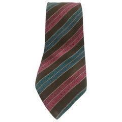 Missoni dark green multicoloured silk tie