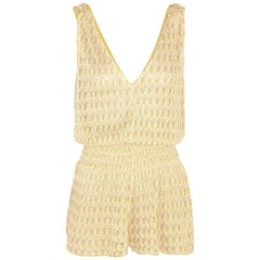 Missoni Diamantino Rilievo Crochet-Knit Playsuit