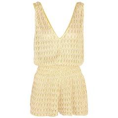Missoni Diamantino Rilievo Crochet-Knit Playsuit