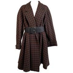 Missoni Donna Vintage Belted Wool Oversized Coat Size 40