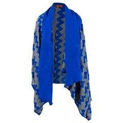 Missoni draped crochet knit wrap ONE SIZE