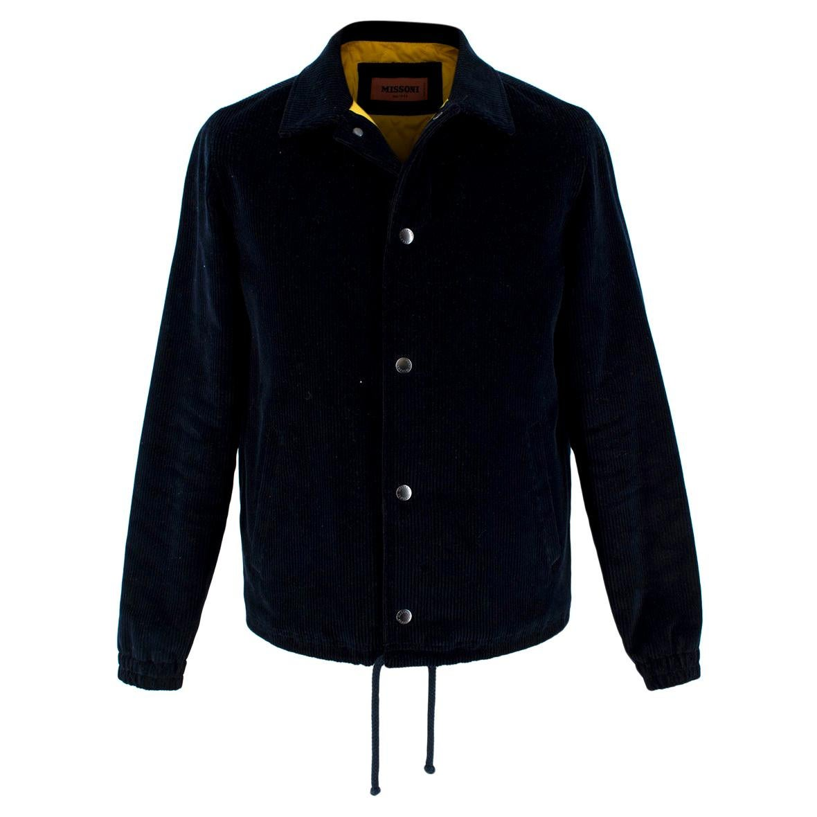 Missoni Embroidered Navy Cord Jacket - XS